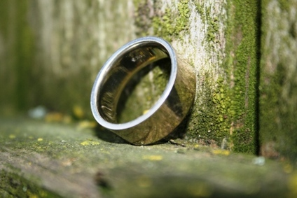 Groom wedding ring.