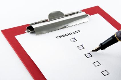 A blank checklist.