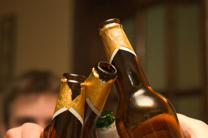 Wedding Engagement Party Toast With Beer Bottles