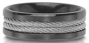 Unique men's wedding band.