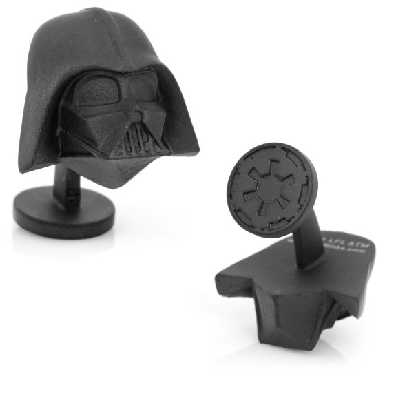 Darth Vader cufflinks.