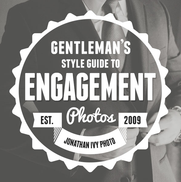Black & white photo of guy in suite with style guide logo.