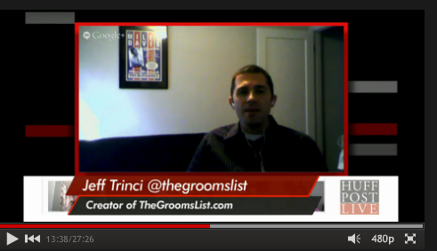 HuffPost Live Interview of Jeff Trinci, creator of The Groom's List.