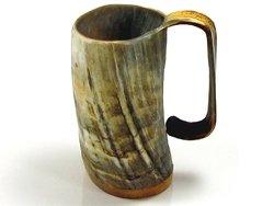 Ox horn beer mug groomsmen gift.