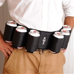 Belt that holds 6 beer cans.