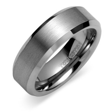 also be sure to pick your ring size carefully because of its strength tungsten carbide rings cannot be sized like traditional metals - Grooms Wedding Ring