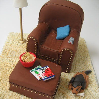 grooms cake lounge chair