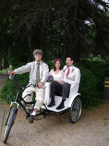Wedding Trasportation Pedicab