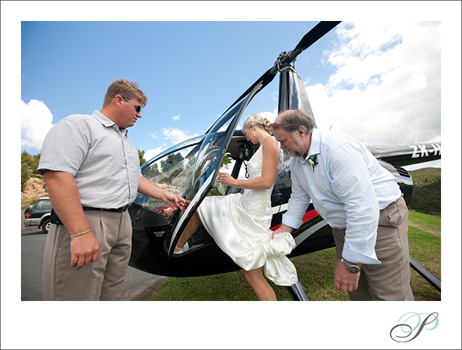 Wedding Transportation Helicopter